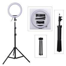 Светодиодный кольцевой светильник-монопод для селфи с регулируемой яркостью 10 дюймов, кольцевой светильник для камеры телефона с подставкой и штативом для макияжа, видео в студии