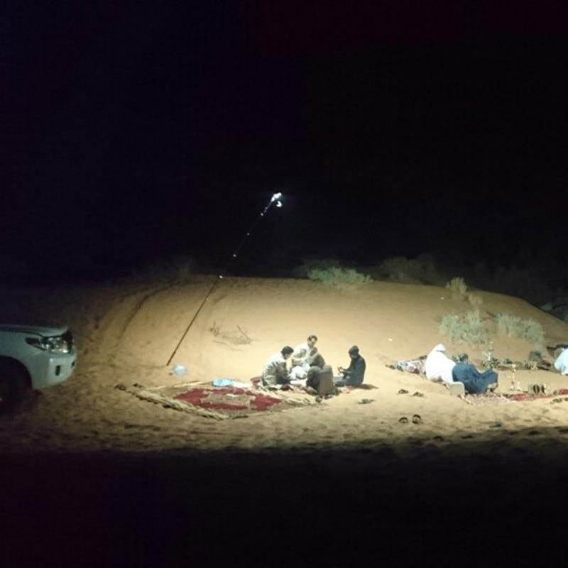 224pcs LEDs Boards x 4 COB 12V LED Telescopic Fishing Rod Outdoor Lantern Camping Light 5 Meters Fishing Rod Road Trip
