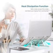 Портативная подставка для ноутбука, алюминиевый складной держатель для Macbook Pro, регулируемый держатель для ноутбука, подставка для планшета...