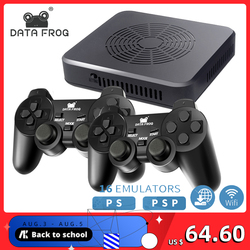 Wi-Fi игровая консоль DATA FROG поддерживает 4 встроенных игрока 3000 + игр 100 3D игр для PS1/PSP Ретро игровая консоль Поддержка HDMI