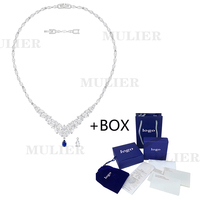 MULIER 2019 SWA New High Quality LOUISON Necklace Winter Frosted Leaves Crystal Send Girlfriend Romantic Jewelry 5419234
