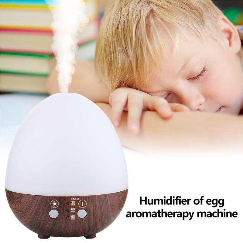 235ml LED Air Humidifier Egg Shape USB Ultrasonic Essential Oil Aromatherapy Diffuser Cool Mist Maker Fogger Air Purifier