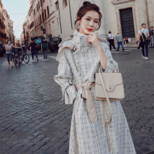 Overcoat Long Trench Coat Casacos Feminino manteau femme Women Fashion Moda Muje