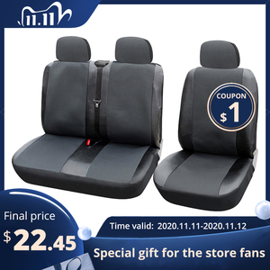 Image 1 - 1+2 Seat Covers Car Seat Cover for Transporter/Van, Universal Fit with Artificial Leather,Truck Interior Accessories