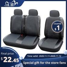 1 + 2 غطاء مقعد s غطاء مقعد السيارة للنقل/فان ، تناسب العالمي مع الجلود الاصطناعية ، شاحنة الملحقات الداخلية