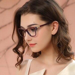Image 2 - Myopie Gläser Rahmen Frauen Blau licht blockieren Gläser Vintage Computer Brillen Diamant Optische Brillen oculos OCCI CHIARI
