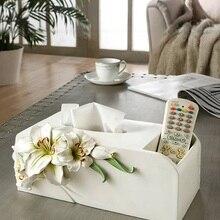 Oussirro 2019NEW в китайском стиле роскошная коробка для салфеток из полимера модный элегантный дом, гостинная настольное полотенце держатель для салфеток