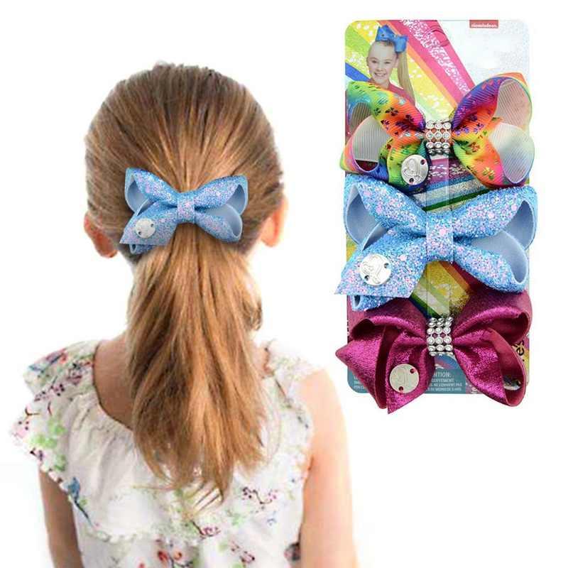 Комплекты из 3 предметов дюйма бант зажим для волос ободок с большим бантом