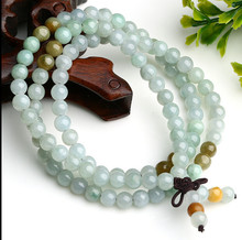 1028+++Natural emeralds handmade beaded bracelet genuine Burma stone beads(China)