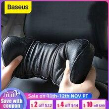 Baseus almohada Universal para coche, espuma de memoria 3D, almohada de cuello para coche, asiento de cuero PU, reposacabezas, cojín para reposacabezas, accesorios para coche