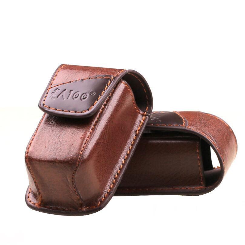 Men's Fashion Portable Folding Reading Glasses Bag Cases Presbyopia Eyewear Holder Magnetic Buckle Leather Case Box For Belt