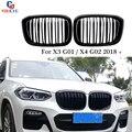 Передняя почечная решетка бампер сетка для гриля для BMW X3 G01 & X4 G02 2018 2019 новая X3 X4 версия глянцевый черный/матовый черный гриль