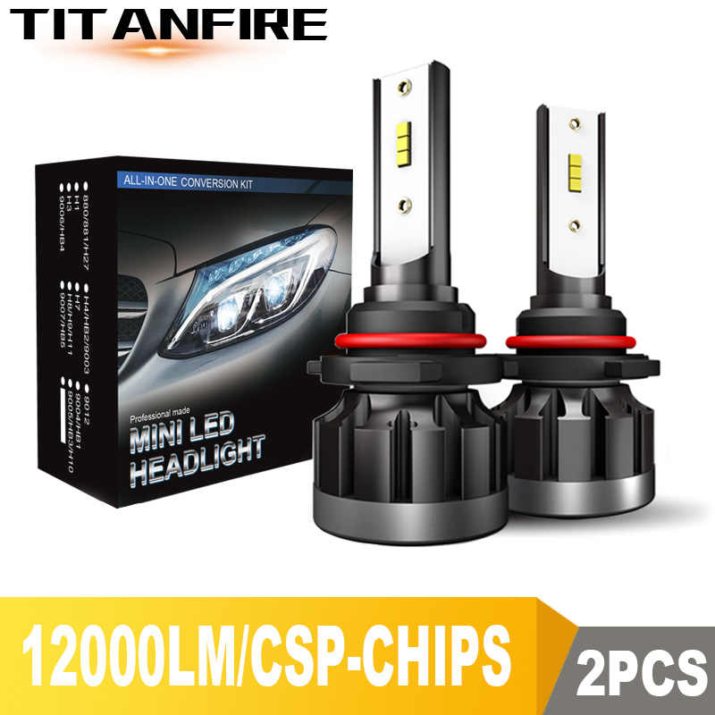 TF30 New 12000LM 9006 H4 H11 H7 LED Headlights Headlamps Bulbs CSP 72W Auto Car Lights H9 H8 9005 Led Headlight Bulb 12V 24V