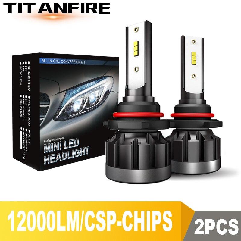 US HOT H4 9003 8000LM 6000K Car COB LED Conversion Headlight Bulb Hi//Lo Beam DS