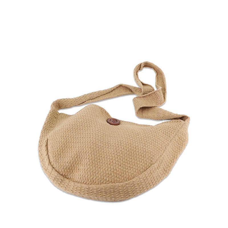 Vintage stricken große kapazität totes woven frauen schulter umhängetasche casual sommer strand stroh tasche damen reise geldbörsen 2020