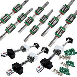 Image 2 - Customized CNC Kit HGR20 SBR16 SFU1605 MGN linear guide rail ball screw name 23 stepper motor spindle inverter for DIY machine