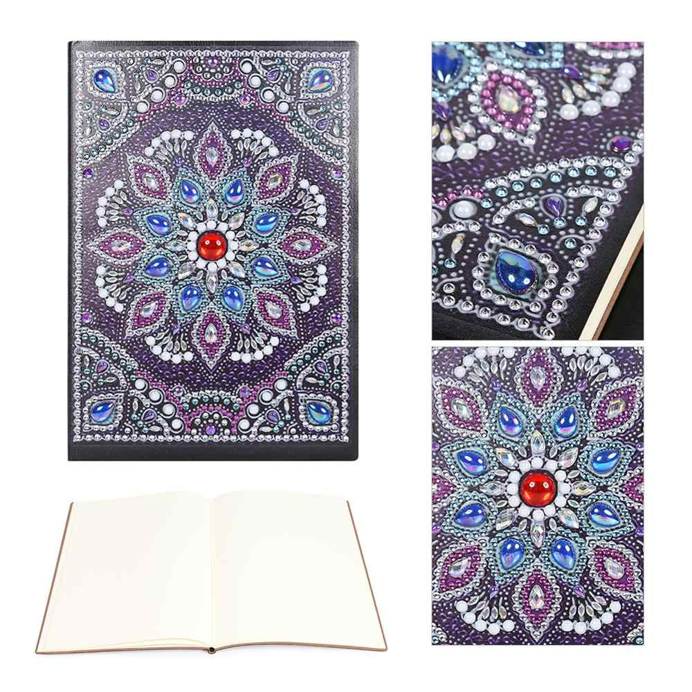Colorful DIY Mandala Special Shaped Diamond Painting 50 Sheets Students A5 Notebook Diamond Cross Stitch Craft Gift New Arrival