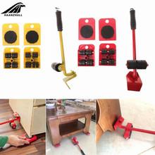 5 sztuk profesjonalny Transport mebli podnośnik zestaw ciężkich rzeczy ruchomy zestaw narzędzi ręcznych Wheel Bar Mover Device tanie tanio Fornir Plac
