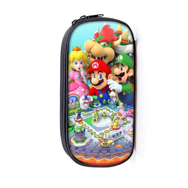Cartoon Mario / Sonic Boom Kosmetische Fällen Bleistift Halter Kinder Schule Liefert Tasche Kinder Make-Up Taschen Jungen Mädchen Fällen