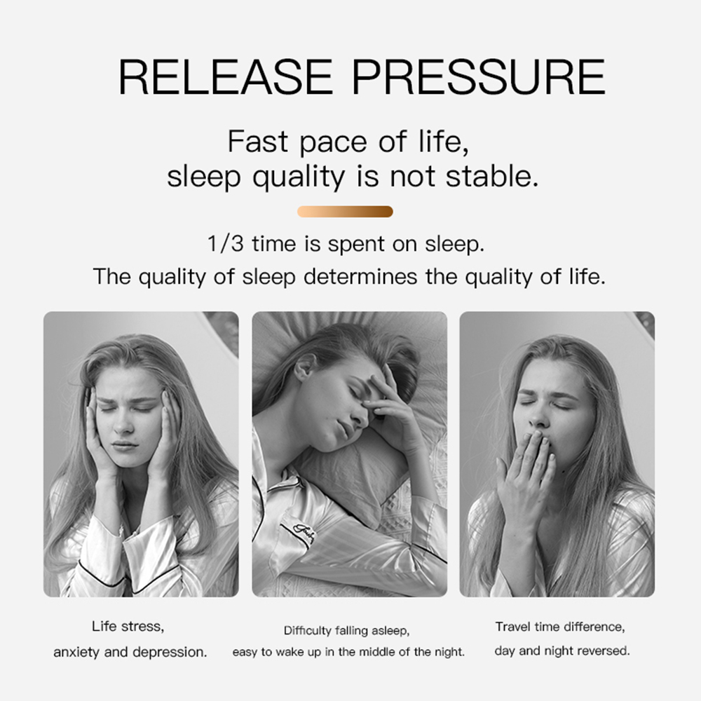 Microcurrent Natural Sleep Aid Handheld Device For Insomnia Pressure Relief and Relax