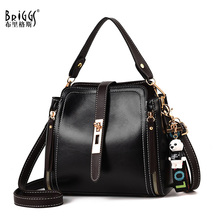 BRIGGS Vintage Womens bag Women PU Leather Handbags Small Lady Hand Bags Shoulder Sac A Main Cross body Bag For Girls