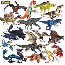 Oenux-figuras de acción de dinosaurios para niños, modelo Original de dinosaurio jurásico, Ankylosaurus, cryofosaurus, pterosauro, mundo de los animales, juguete