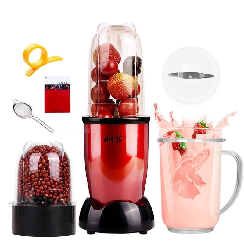 MINI Portable Electric juicer Blender Baby Food Milkshake Mixer Meat Grinder Multifunction Fruit Juice Maker Machine EU US|Meat Grinders| |  - title=
