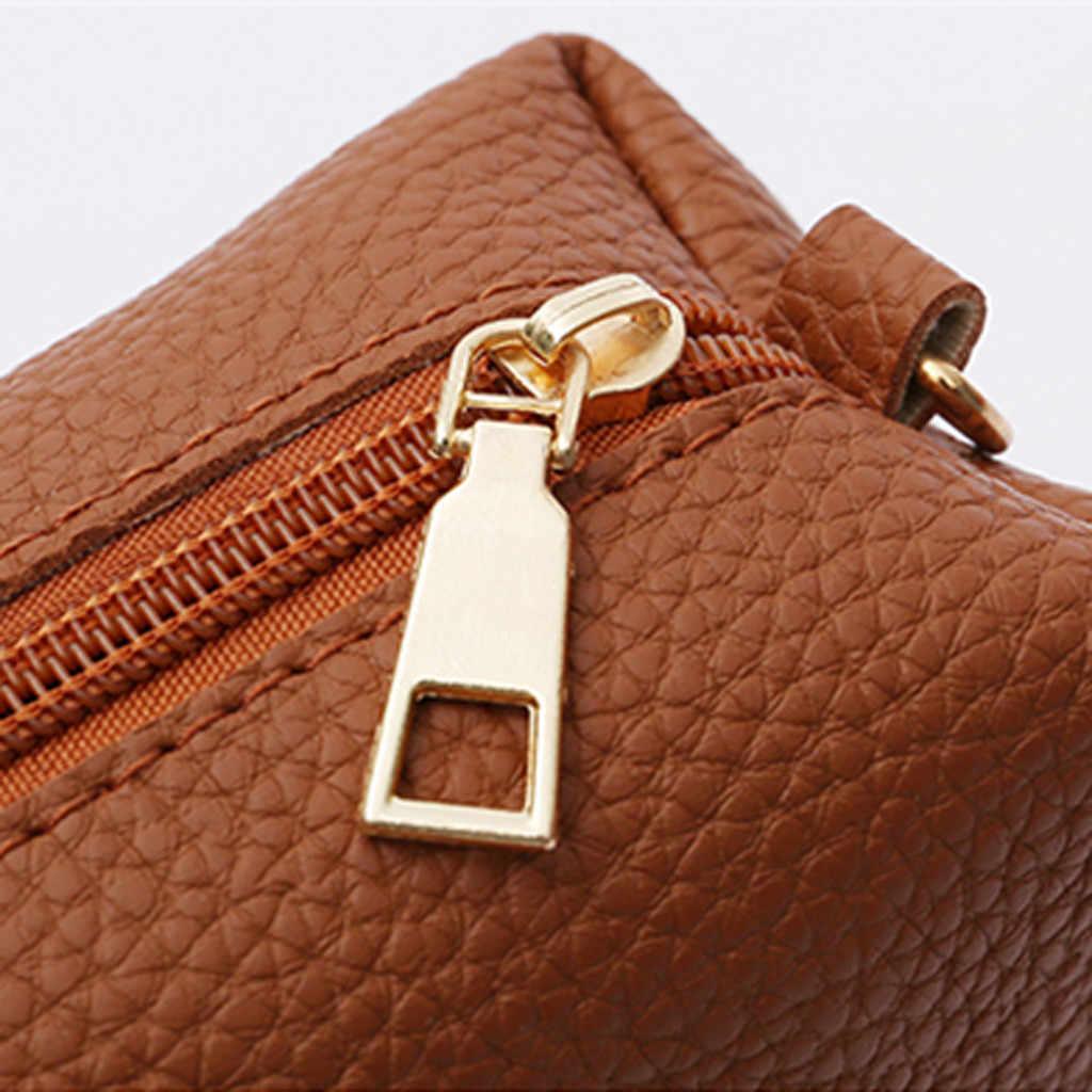 4pcs ensemble femme sac 2019 sacs à main mode quatre pièces sacs à bandoulière en cuir Messenger sac Vintage portefeuille carte paquet sac à main rabat