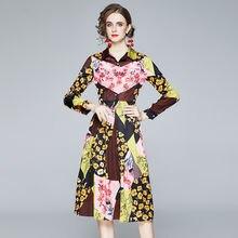 Женское платье рубашка с цветочным принтом banulin разноцветное