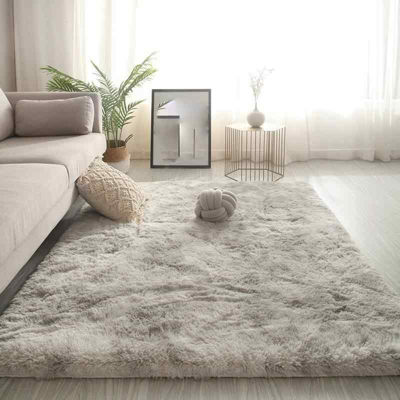 tapis doux 2021 en peluche degrade de couleurs moderne antiderapant pour chambre a coucher table basse salon decoration de maison