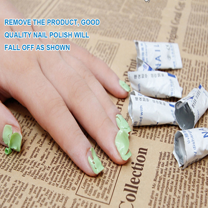 200pcs/Set Gel Nail Polish Remover Wraps Lint Free Wipes Soak Off Cleanser Nail Art Degreaser Cleaner Semi Permanent