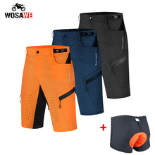 Pantaloncini da moto estivi WOSAWE uomo pantaloncini da Ciclismo MTB larghi traspiranti pantaloni da corsa pantaloni da bici da corsa pantaloncini da bici