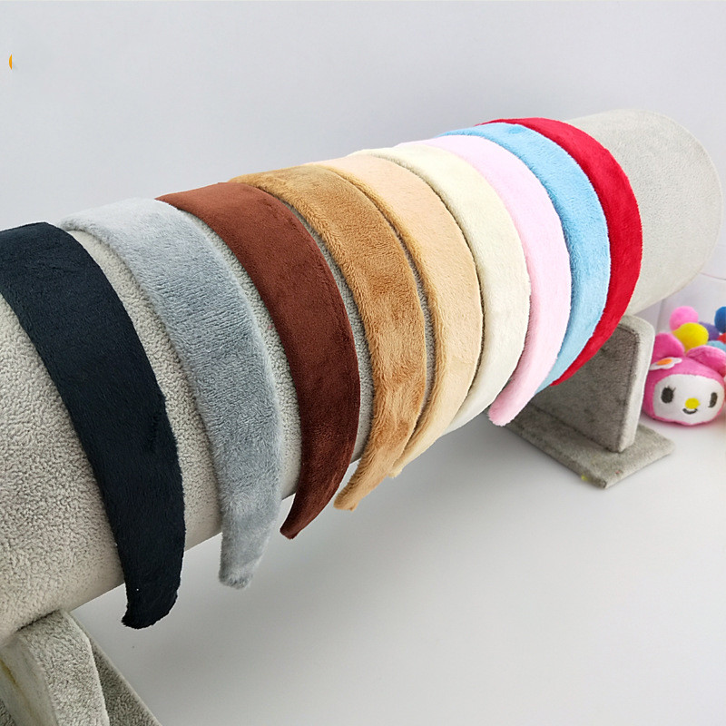 Free Shipping Coral Fleece 2.8cm Wide Women Hairbands Girl's Headbands Lady's Headwear Hair Accessories