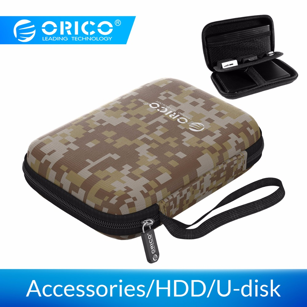 ORICO Earphone Bag 2.5 Inch Protection Case for External Portable HDD Box Case USB Charger USB Cables Power Banks Earphones More