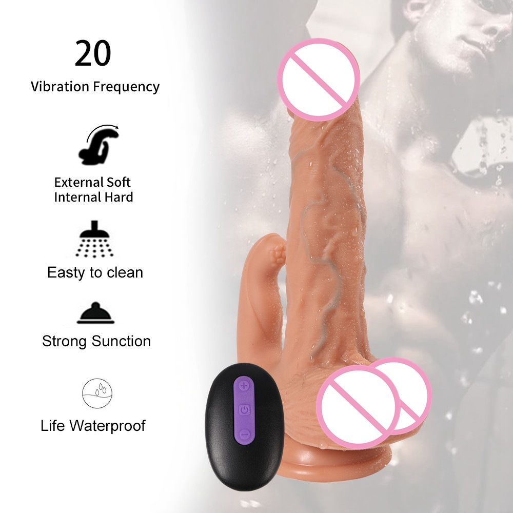 Radio Electric Remote Control Simulated Penis and Couple 39 s Sex Masturbation Device Mortehayton 20 Frequency dildo vibrator in Dildos from Beauty amp Health