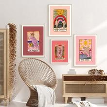 Абстрактная Картина на холсте «Таро» со звездами, постеры с имперами для влюбленных, печать на стене, картины для гостиной, скандинавский Де...