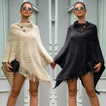 Kobiet sweter huśtawka sweter zimowy sweter z dzianiny kaszmirowe ponczo peleryny szal swetry rozpinane sweter sweter kobiet jednolity nieregularne swetry tanie i dobre opinie JAYCOSIN Arcylic Akrylowe Komputery dzianiny Pełna Stałe Skręcić w dół kołnierz Przycisk STANDARD Brak Okład Huśtawka