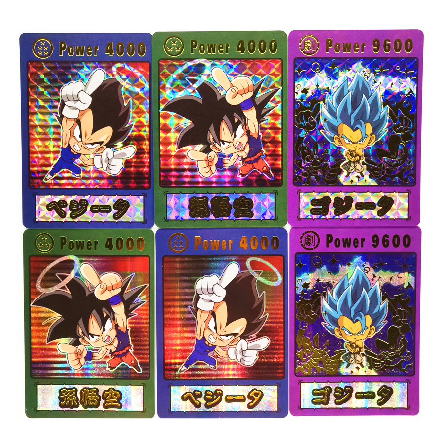 3pcs/set Super Saiyan Wafer Dragon Ball Z Q Bronzing Process Heroes Battle Card Ultra Instinct Goku Vegeta Game Collection Cards