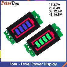 1-8S 1S/2S/3S/4S Single 3.7V Lithium Battery Capacity Indicator Module 4.2V Display Electric Vehicle Battery Power Tester Li-ion