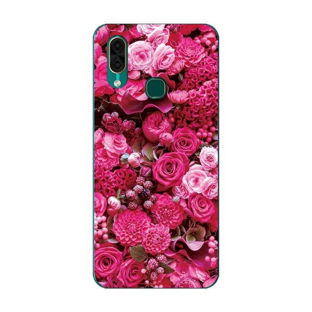 GUCOON pokrywa silikonowa do Leagoo S11 M12 M13 Case miękka TPU ochronne etui na telefon kreskówka wilk róża kwiaty zderzak Shel