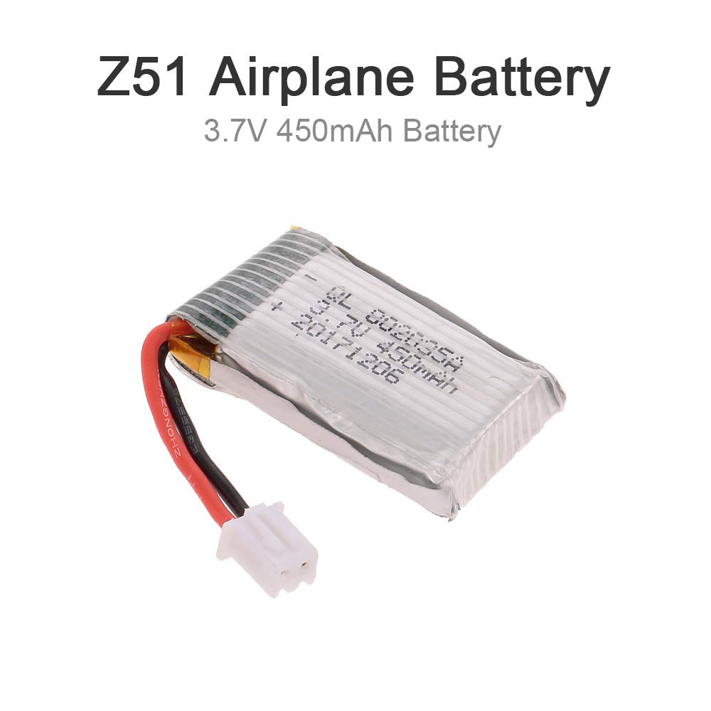 Z51 Battery 1s 3.7v 450mah Lipo Battery With Dual Protection Board Spare Part For Z51 Predator Rc 660mm Airplane