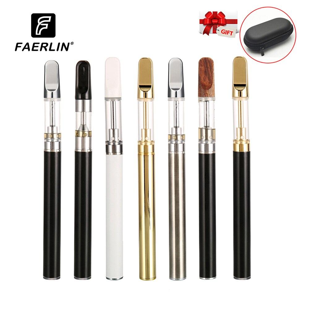 Faerlin CBD Vape Pen Electronic Cigarette 350mah Battery Ceramic Coil Mod CBD Oil Rta Cartridge Air Switch Vaporizer Vapes Kit