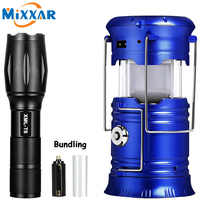 ZK20 LED Solar Powerful Flashlights Portable Torch Rechargeable Hand Lamp Camping Lantern Tent Emergency Light dropshipping