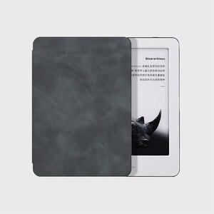 Image 3 - Youpin MoAn Schutzhülle Für Xiaomi MiReader e book Automatische Zurück Saug Leder Abdeckung Für Xiaomi ebook Schutzhülle