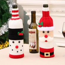 Christmas Decorations Red Wine Bottle Set Knit Bottle Set Champagne Bottle Set Restaurant H