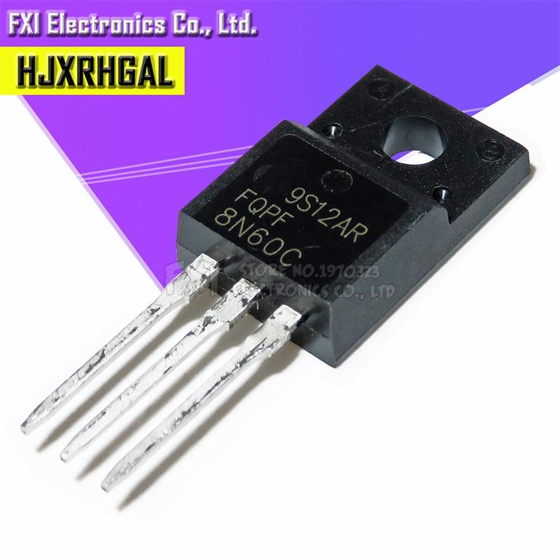 10PCS FQPF8N60C 8N60C 8N60 TO-220 TO220 MOS FET Transistor New Original