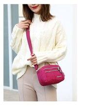 Jinqiaoer модная сумка мессенджер легкая водонепроницаемая нейлоновая