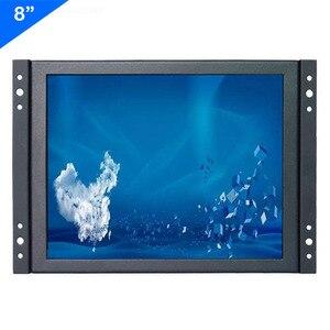 Monitor industrial ZHIXIANDA, precio de fábrica, 8 pulgadas, 1024x768, HDMI, VGA/d-sub, BNC, AV, USB, entrada con marco abierto