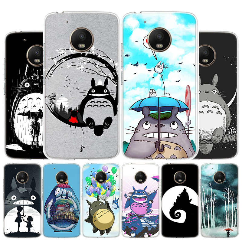 My Neighbour Totoro Drawings Phone Case For Motorola Moto G8 G7 G6 G5S G5 G4 E6 E5 E4 Plus Play Power One Action X4 Cover Coque
