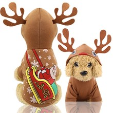 Get more info on the pet dog clothes Christmas pet clothes moose antlers decorative dog hooded jacket autumn and winter warm legs winter new clothing